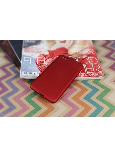MobilCadde Vestel Venus Z10 İnce Nokta Desenli Kırmızı Silikon Kılıf Kırmızı